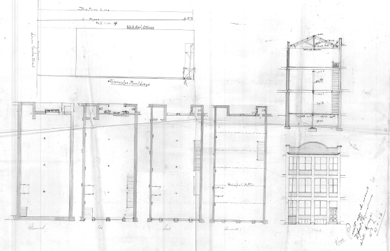 Original plans, 1908. (WCC Archives reference 00053:145:8060)