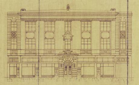 '124-128 Vivian Street, Plans for Trades Hall building,' 21 November 1927, 00056:44:B4341, Wellington City Archives.